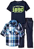 U.S. Polo Assn. Little Boys' Toddler 3 Piece Long