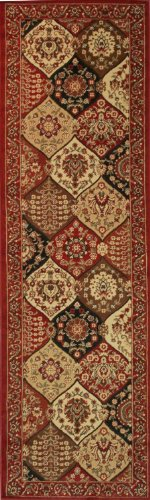 Well Woven Barclay Wentworth Panel Red Traditional Area Rug 2'7'' X 9'6'' Runner - Panel Red Area Rug