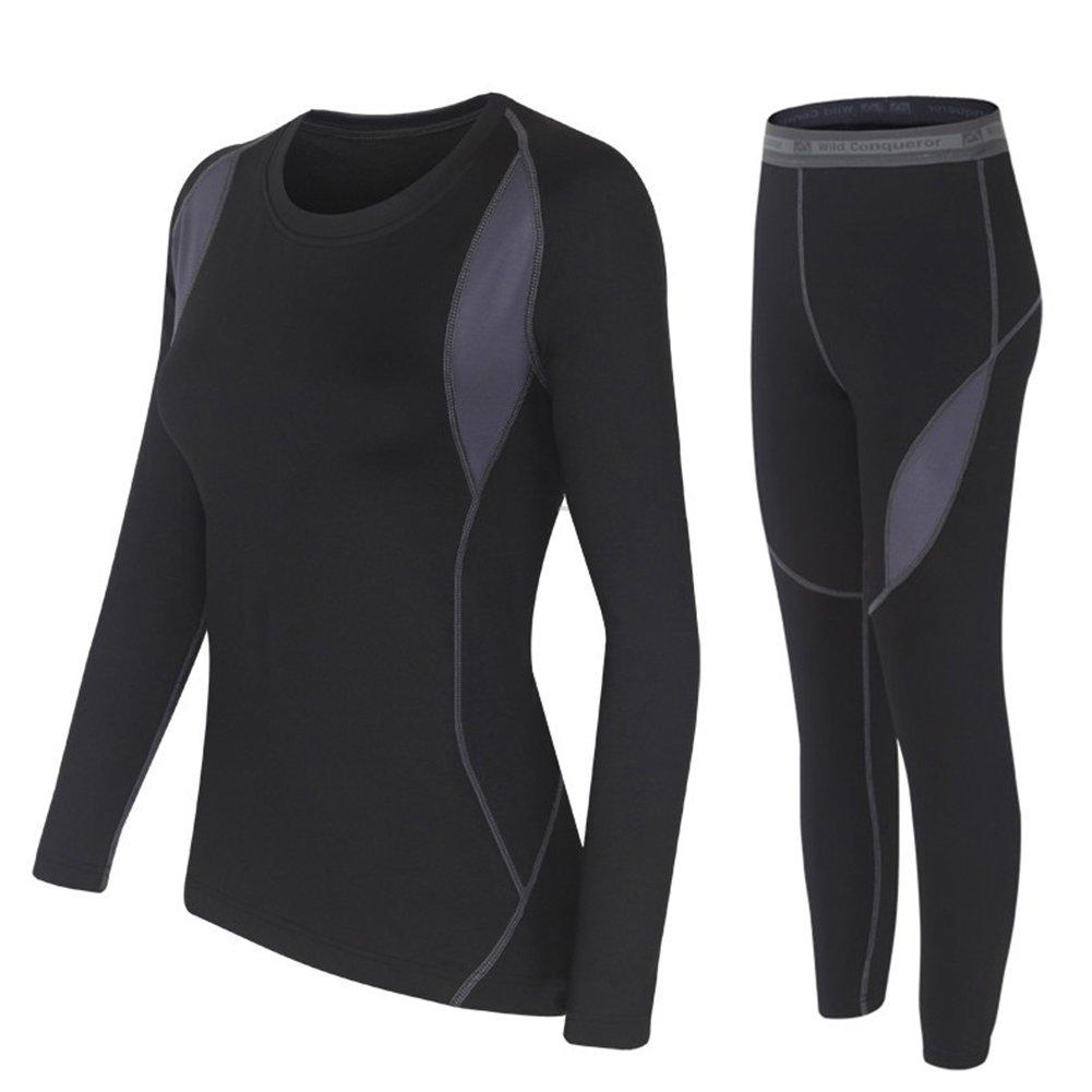HAINES Damen Thermounterwäsche Set (Unterhemd + Unterhose) Ski Thermo Unterwäsche Warme Funktionsunterwäsche
