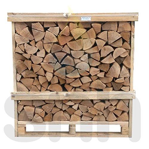 Kiln Dried Logs HARD WOOD LOGS Fire Wood 1.2m Crate 50/50 Mix of Oak and Birch Firewood