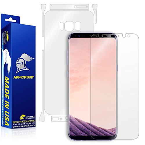 Price comparison product image ArmorSuit MilitaryShield - Samsung Galaxy S8 Plus Screen Protector + Clear Full Body Back Protector Lifetime Replacement Anti-Bubble