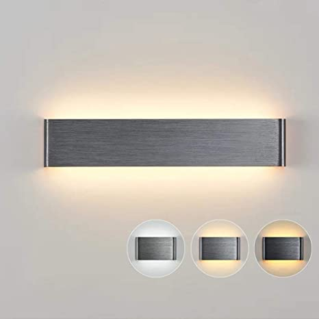 Wandleuchte Aluminium Kunststoff Acryl LED weiss Zeitlos