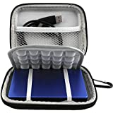 Lacdo EVA Shockproof Carrying Travel Case for 2.5-Inch Portable External Hard Drive, GPS Camera and External Battery Pack