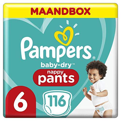 Pampers Baby-Dry Pants Maat 6, 15kg+, 116 Luierbroekjes, Eenvoudig En Leuk Verschonen Overdag En Bescherming 's Nachts…