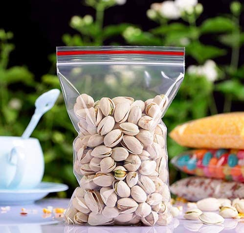 ,Clear Plastic Thin Reclosable Zipper Poly Bags with Lock Seal Ziplock 100 Pack 5 * 7 5 x 7 13x18cm