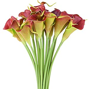 Luyue Calla Lily Bridal Wedding Bouquet Head Lataex Real Touch Flower Bouquets Pack of 20 40