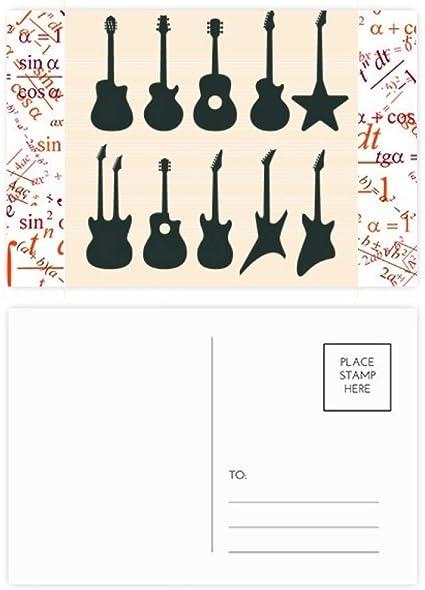 Juego de 20 tarjetas postales para guitarra eléctrica, música y ...