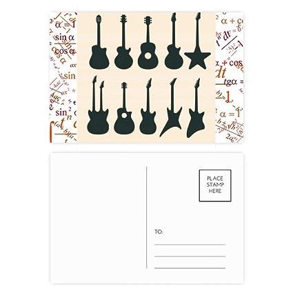 Juego de 20 tarjetas postales para guitarra eléctrica ...