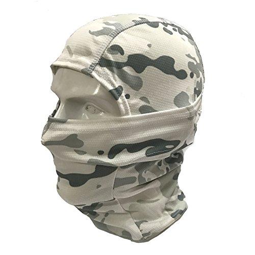 ATAIRSOFT Ninja Full Face mask/Military Balaclava Full Face mask (Snow Camouflage)