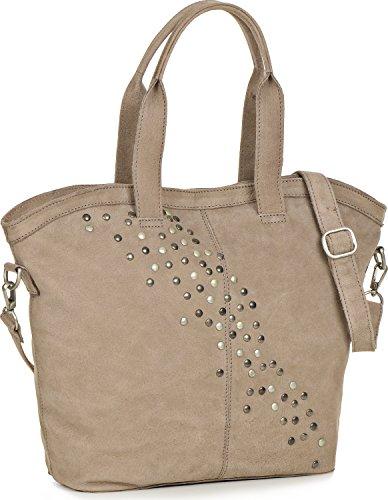 COWBOYSBAG, cuir, femmess, cabas, sac fourre-tout, sacs à main, sacs en cuir, aspect vintage, sac à main, sac bandoulière, cuir, taupe, 45 x 33 x 13 x cm (H x L x P)