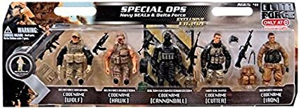 Amazon com: Elite Force Special Ops Action Figure 5-Pack
