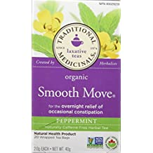 Traditional Medicinals Organic Smooth Move Peppermint, 20 tea bags
