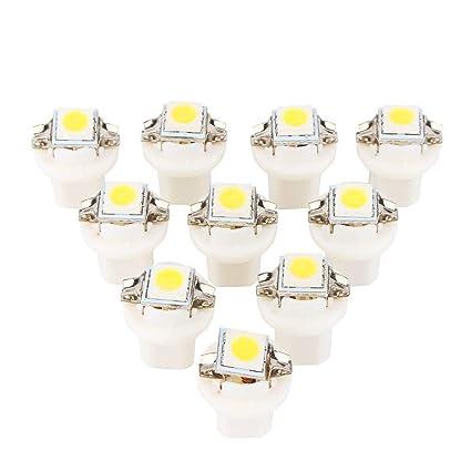 Mioloe 10 unids B8.3D-5050-1 Bombillas LED Coche Led Luces de
