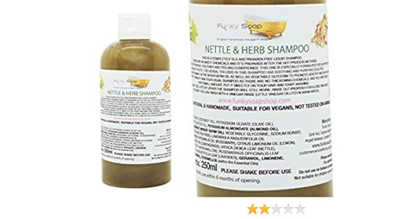 1 botella Líquido Ortiga & Champú De Hierbas 100% Natural Sin SLS 250ml: Amazon.es: Belleza