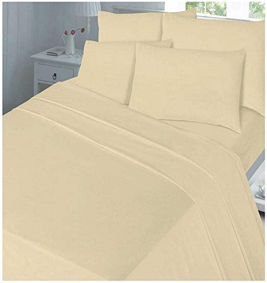 100/% Brush Cotton Thermal Flannelette Duvet Cover Deep Fitted Sheet Cot 4Ft