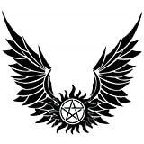 Supernatural Devils Trap Anti Possession Wings Symbol Sigil Vinyl Sticker Decal Pentagram (11