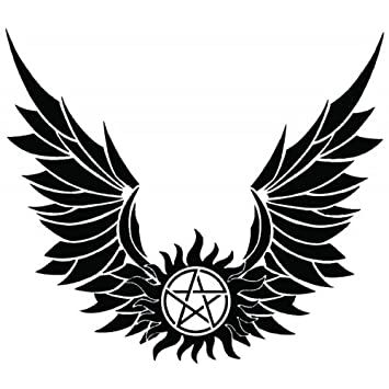 Amazon Supernatural Devils Trap Anti Possession Wings Symbol