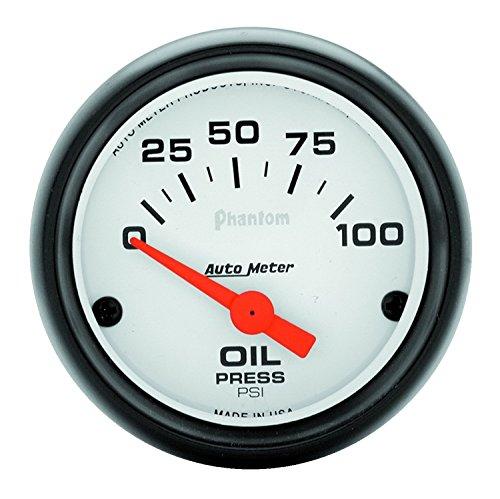 Phantom Electric Oil Pressure Gauge - Auto Meter 5727 Phantom Electric Oil Pressure Gauge