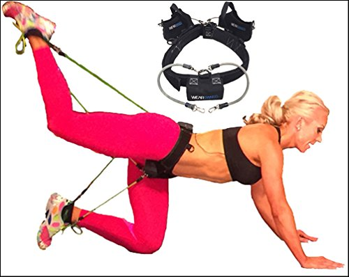 BootyBands - Multi-use 3-Band Wearable Resistance Bands for Firming, Toning and Building the Booty, Abs and Legs During ANY Fitness Activity (