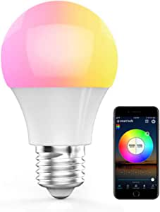 HaoDeng Bluetooth LED Smart Bulb 40W RGBW, No Hub Required, 16 Million Colors Lighting & Group Control & DIY Bulbs, Dimmable & Timer & Mic Indoor Lighting E27 Bulb for Android and iOS