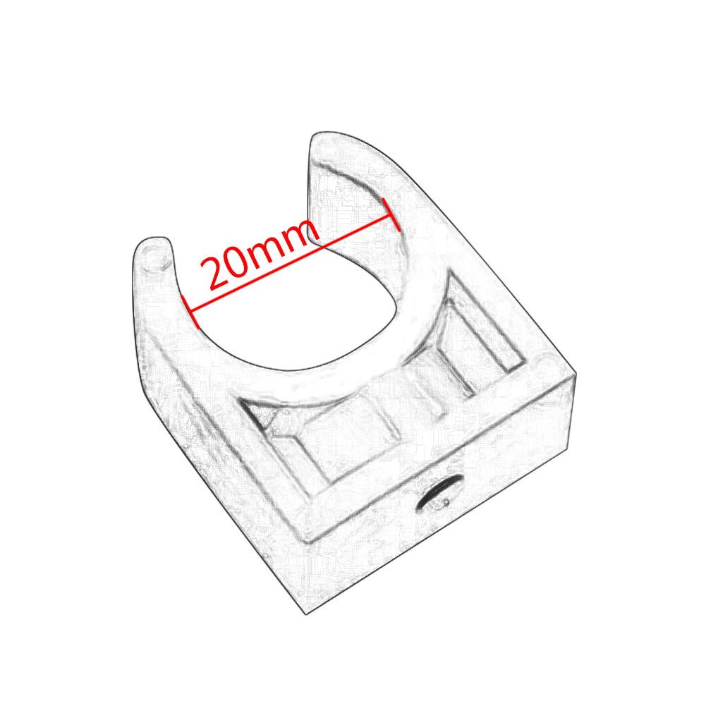 10Pcs Plastic PPR U Shaped Water Supply Pipe Holder Stand Clamps Pipe Fixed Clips 20-50mm Dia Yudesun Water Pipe Fitting Clamp