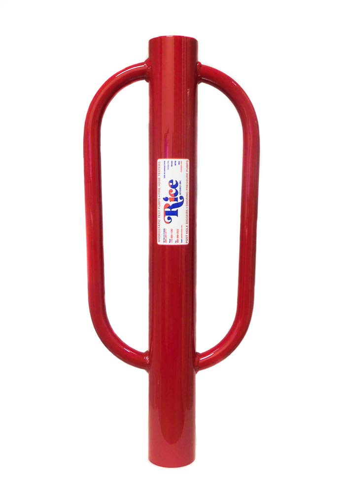 RICE Hydro, Inc. Heavy Duty 3'' Durable Steel Post Pounder/Post Driver 27 Pounds of Force, Made in The USA with Handle