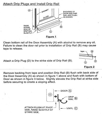Chrome Framed Shower Door Replacement Drip Rail with Vinyl Sweep - 32'' Long by GordonGlass (Image #1)