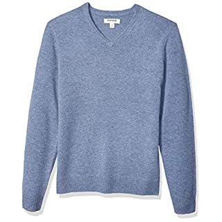 Amazon Brand - Goodthreads Men's Lambswool V-Neck Sweater, Light Blue XXX-Large Tall