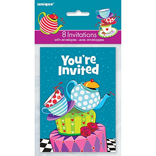 Mad Hatter Tea Party Invitations 8ct