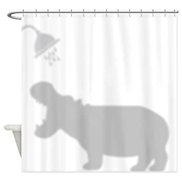 Amazon CafePress Funny Hippo Shadow Silhouette Decorative Fabric Shower Curtain 69x70 Home Kitchen