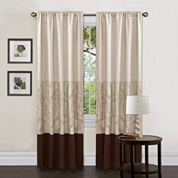 Amazon Com Lush Decor Hester Single Curtain Panel 84