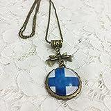 Dreamcosplay Axis Powers Hetalia Finland Logo Girl Necklace Cosplay