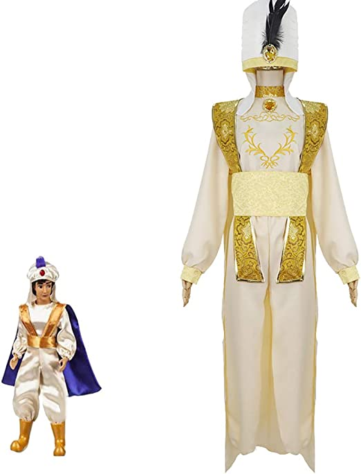 SHIXUE Disfraz Cosplay Aladdin and The Magic Lamp Adulto Disfraz ...