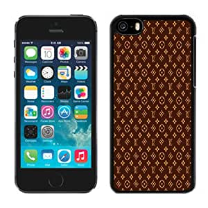Beautiful Custom Designed Cover Case For iPhone 5C With Brown Louis Vuitton Patterns Phone Case Cover
