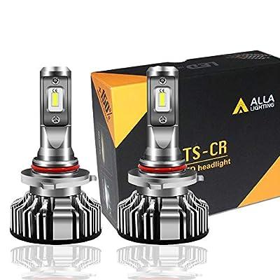 Alla Lighting 10000lm LED 9005 Headlight Bulbs Extremely Super Bright TS-CR HB3 9005 LED Headlight Bulbs Conversion Kits 9005 Bulb, 6000K Xenon White (Set of 2)