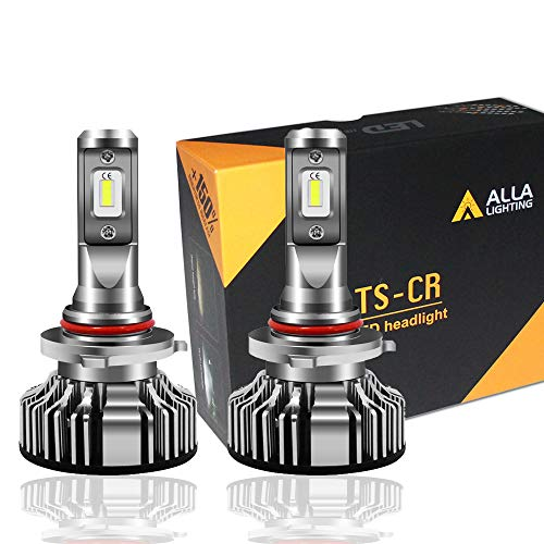 (Alla Lighting 10000lm LED 9005 Headlight Bulbs Extremely Super Bright TS-CR HB3 9005 LED Headlight Bulbs Conversion Kits 9005 Bulb, 6000K Xenon White (Set of 2))