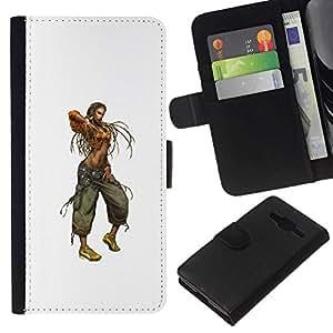 NEECELL GIFT forCITY // Billetera de cuero Caso Cubierta de protección Carcasa / Leather Wallet Case for Samsung Galaxy Core Prime // Mujer de Rasta