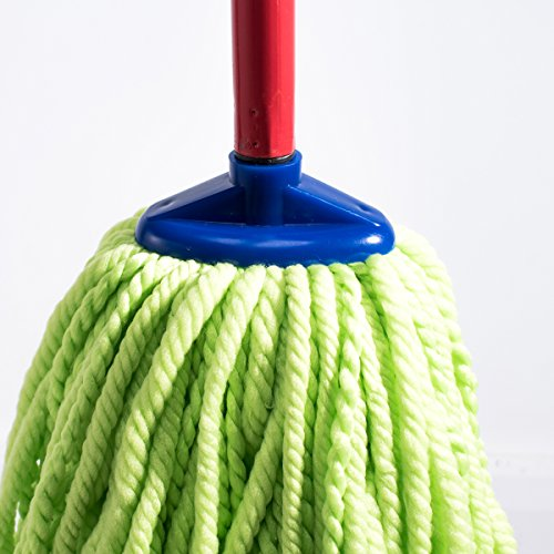 QIPENG 12'' Professional Microfiber Mop Head 4 Pack, Washable Wet and Dry Mop Heads, Super Absorbent Mop (Green) by QIPENG (Image #3)