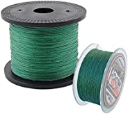 100% PE 4 Strands Braided Fishing Line, Super Strong Smooth PE Braided Multifilament Fishing Lines for Saltwat