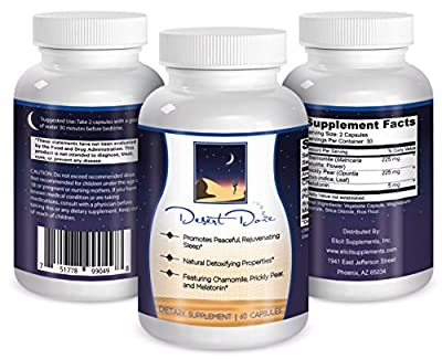 Desert Doze - #1 Effective All Natural Sleep Aid Featuring Melatonin Chamomile and Prickly Pear