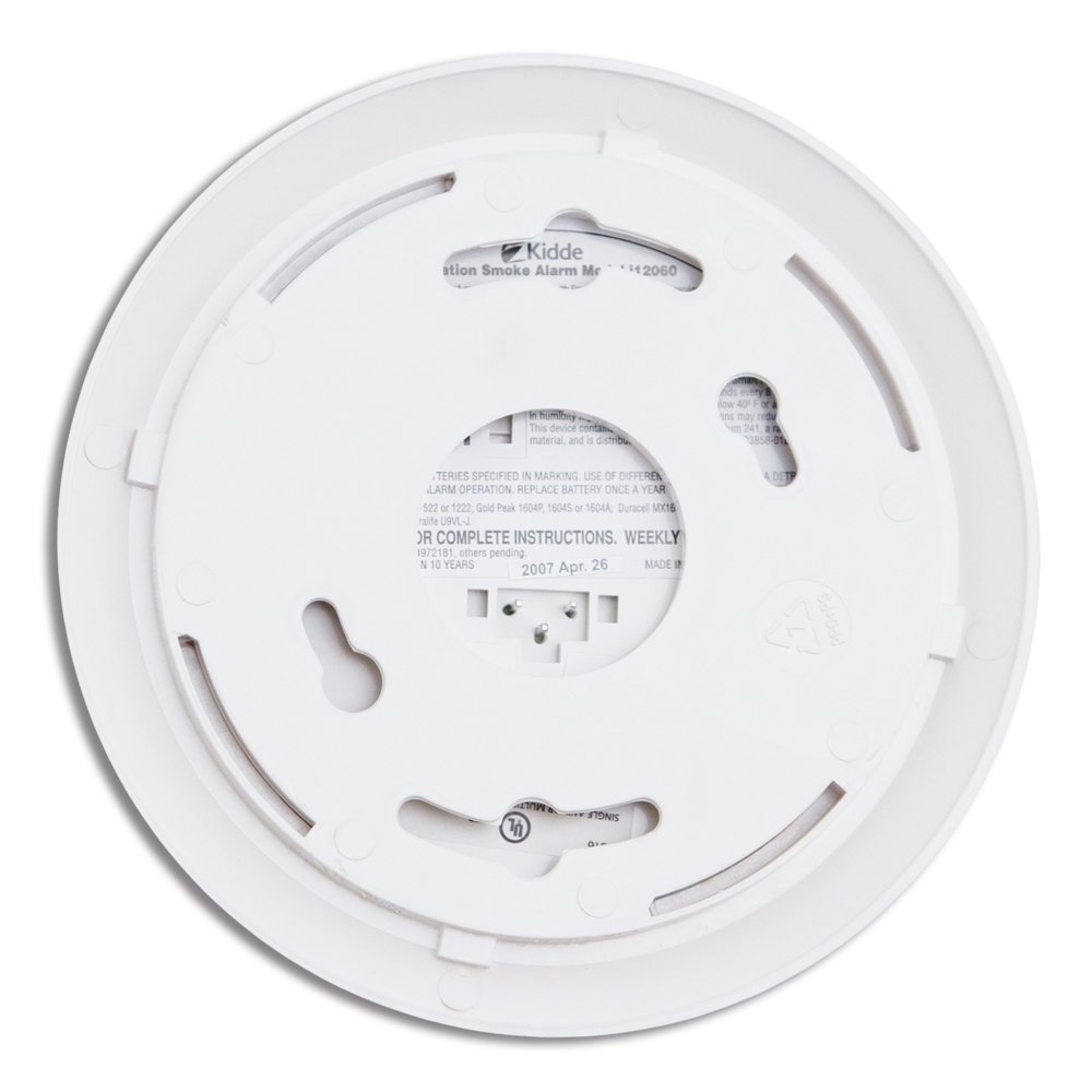 kidde i12060 hardwire with front load battery backup smoke alarm 6pack smoke detectors amazoncom