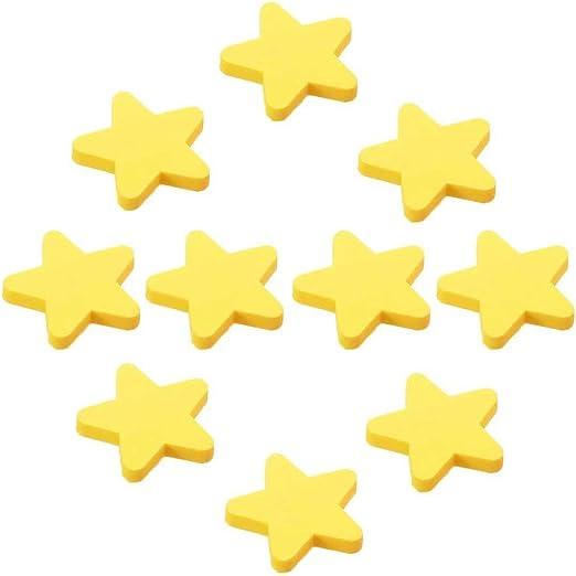 FBSHOP TM pomos de habitaci/ón y Asas dise/ño de Luna Color Amarillo 10 Tiradores de cajones para ni/ños