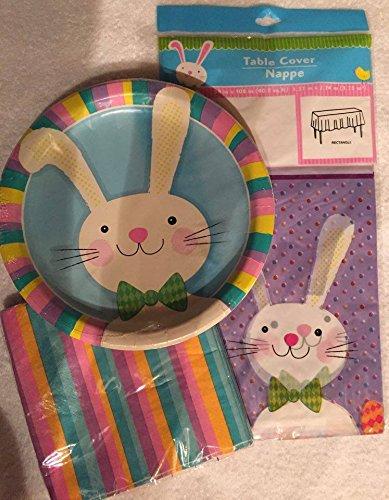 Bundle Easter Party Supplies Tablecloth Paper Plates and Napkins & Amazon.com : Bundle Easter Party Supplies Tablecloth Paper Plates ...