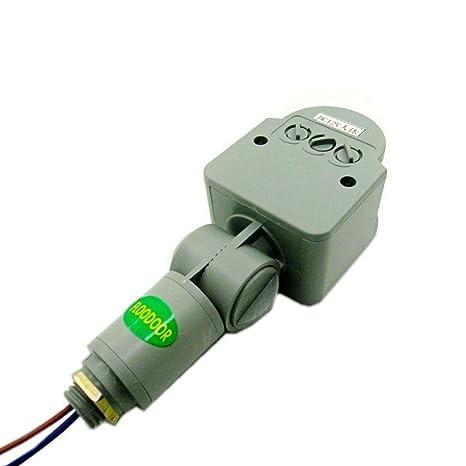 GLW - Foco 220V Sensor de movimiento infrarrojo Pir Detector inductivo para 10 - 100 W
