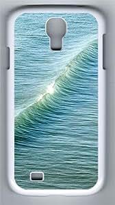 Sea waves Custom Samsung Galaxy S4 I9500 Case Cover ¨C Polycarbonate ¨C White