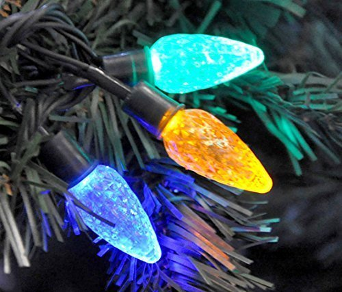 80 LED Multi Coloured Christmas Tree Pine Cone Static String Fairy Lights Wedding Party Decoration Quickdraw LSLL-80LEDM-PMMA048