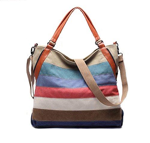 SHAYIN - Bolso al hombro de Lona para mujer talla única Colorful 1