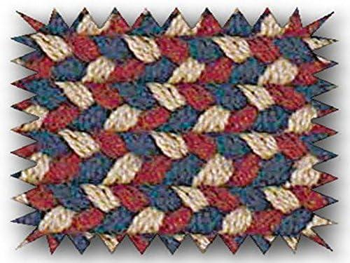 Brook Farm Polypropylene Braided Rug, 12-Feet by 15-Feet, Burgundy