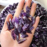 Autumn Water 50g Natural Rough Specimen Amethyst Point Quartz Wolf Teeth Wand Crystal Natural stones and minerals Fish tank stone