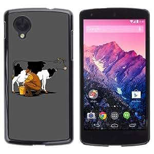 YOYOSHOP [Funny Cow Milking] LG Google Nexus 5 Case by icecream design